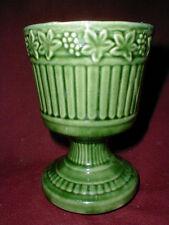 McCoy Pottery Green Grape Leaf & Vine Pedestal Planter/Vase/Flower Pot