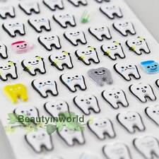 1 Sheet Molar Shaped Cartoon Tooth Puffy Paper Sticker Dental Clinic Gift