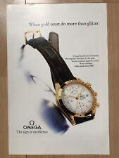 Omega Speedmaster 18 Ct 1993 Advertisement Pub Ad Werbung
