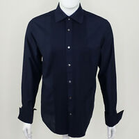 Banana Republic Men's Blue Long Sleeve French Cuff Button Up Medium M 15 - 15.5