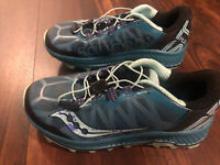 New Saucony Everun Koa ST Mud Womens Running Trail Shoes Size 6.5 Teal