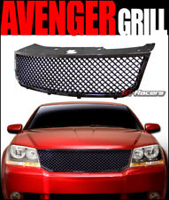 FOR 2008-2010 DODGE AVENGER GLOSSY BLK MESH FRONT BUMPER GRILL GRILLE GUARD ABS