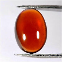 10.20cts Earth Mind Natural Hessonite Gomed Garnet Oval Cabochon Loose Gemstones