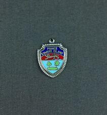 Vtg Sterling Silver Enamel Travel Shield Charm Prince Edward Island Canada PEI