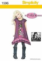 Simplicity Sewing Pattern 1596 Girls Childs Dress Size 3-8 Patty Reed