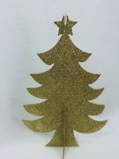 3 HOLIDAY TIME Gold Tree Table Decoration Christmas Xmas 25326 Glitter