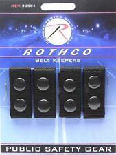 Belt Keepers Black 1680 Denier Polyester Police Duty Belt Belt Keepers 4 Pack