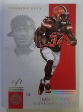 2017 Panini Encased Isaiah Crowell Clevland Browns Card 1/1
