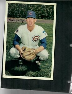 "1969 Cubs by Jewel Foods 6"" by 9"", Randy Hundley, Very Good condition"