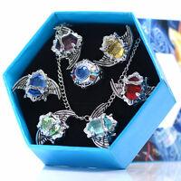 Anime Katekyo Hitman Reborn Vongola Metal Rings Cosplay Necklace Gift 7pcs/box