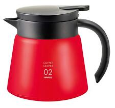 HARIO Japan Coffee V60 Insulated stainless steel server 550ml VHS-60 Red