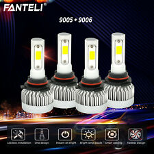 9005+9006 6000K CREE LED 3300W 495000LM Combo Headlight Kits High + Low Beam 6K