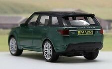 PERSONALISED PLATES Green Range Rover Sport Model Boys Dad Toy Car Present Gift