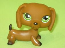 Hasbro LPS Littlest Pet Shop #139 Brown DACHSHUND DOG DOG Green Eyes Freckles