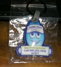 Blue Freddy Flame Flash Light  Key Ring Chain  Equitable Gas Co 125  Anniversary