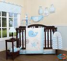 13PCS  Lovely Whale Baby Nursery Crib Bedding Sets