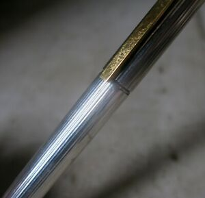 S.T. DUPONT GATSBY SILVER PLATED BALL PEN - GODRONS PATTERN