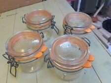 4x Pre-owned  Le Parfait Glass Jars 350 underneath r55