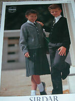Sirdar Knitting Pattern Boy's/Girl's 4Ply V-Neck/Round Neck Raglan Cardis 4773