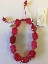 Lola Rose Angel Bracelet Scarlet Agate, New, Gift Pouch, Ladies Jewellery