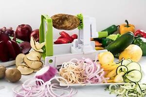 Spiral Vegetable & Fruit Slicer Cutter 5 Blade Multifunctional Kitchen Vegetable