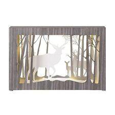 Heaven Sends Reindeer Stag Diorama Frame Led Light Up Christmas Home Decoration