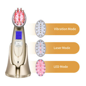 New Laser LED Hair Growth Treatment Comb Brush Hair Loss Therapy Massager KL