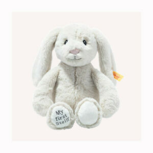 Steiff 242342 / 242076 My First Hoppie LIGHT GREY rabbit with Steiff GIFT Box