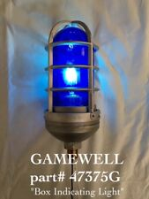 GAMEWELL part 47375G *AUTHENTIC*  BLUE   GLASS LIGHT Fire Police Alarm Call Box