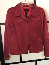 """FOR JOSEPH Women's Jacket/Blazer Pink. Size Small 100% Suede. Length 22"""""""