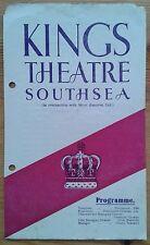 Cinderella programme Southsea Kings Theatre 1946 Ann Dummond-Grant Genine Graham