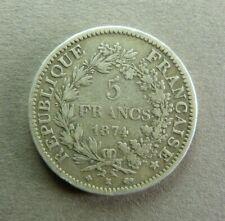 FRANCE - 5 Francs - 3e REPUBLIQUE - 1874 K - BORDEAUX - Argent