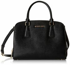 Michael Kors Double Handle Adjustable Shoulder Strap Handbag for Women's, Black