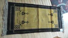 "New listing Antique Nos Coral Mayflower Brand Rug, 24""X48"", Gold/Black, Original Tag,Mission"
