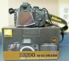 Nikon D3200 Digital Slr Camera with Multiple Lenses & Accessories Bundle Used