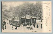 Trolley Train Depot AMSTERDAM Spui~Rare Antique Dutch~Stamps to Minneapolis 1905