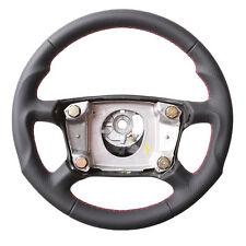 PORSCHE 911 993 996 STEERING WHEEL, ERGONOMIC INLAYS, NEW LEATHER, RED STITCHING