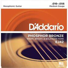 D'Addario EJ42 Phosphor Bronze Acoustic Strings.Dobro/Guitar ,16-56 Resophonic
