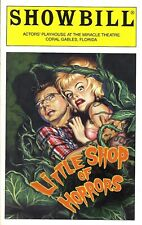 "Hunter Foster ""LITTLE SHOP OF HORRORS"" Alice Ripley 2003 Coral Gables Playbill"