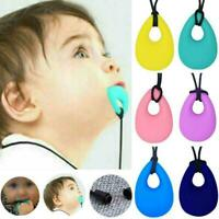 Kids Baby Sensory Chew Chewelry Chewy Necklace Pendant Toys Teething Autism N9S7