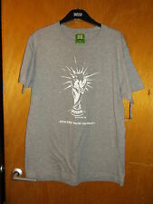 Fifa 100%Cotton S/Sleeved '2014 World Cup Brazil' Top SMALL Grey Marl Mix BNWT