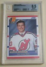 1990-91 MARTIN BRODEUR #439 - RC ROOKIE CARD - BECKETT BGS GRADE 8.5 NM-MT+