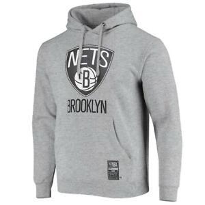 Brooklyn Nets Outerstuff NBA Team Logo Hoodie Jumper - Grey Heather