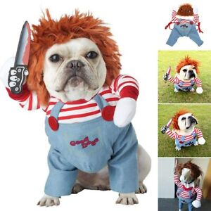 Dog Cat Pet Funny Costume Chucky Deadly Doll Cosplay Party Fancy Festival Cloth