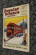 Vintage MARCH 1925 POPULAR SCIENCE magazine - FUTURISTIC COVER ART - SKI TRAIN