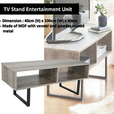 TV Stand Entertainment Side Cabinet Storage Unit  Cupboard LCD LED 100cmWx40cmH