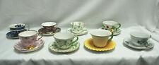 Tea Cup & Saucer Vintage Sets Royal Chelsea, Aynsley, Adderley, + (8-Sets) M4598
