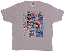 Marvel Comics Men's White Captain America Tee Size M 100% Cotton T-Shirt