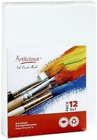 "CANVAS PANELS 48 PACK - 5""X7"" SUPER VALUE PACK Artist Canvas Panel Boards for..."