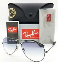 NEW Rayban sunglasses RB3558 913919 58mm Black Blue Gradient Aviator AUTHENTIC